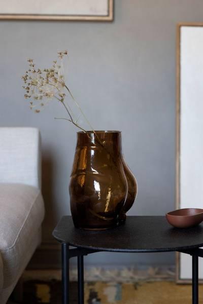 Vase Butt Glass Brun