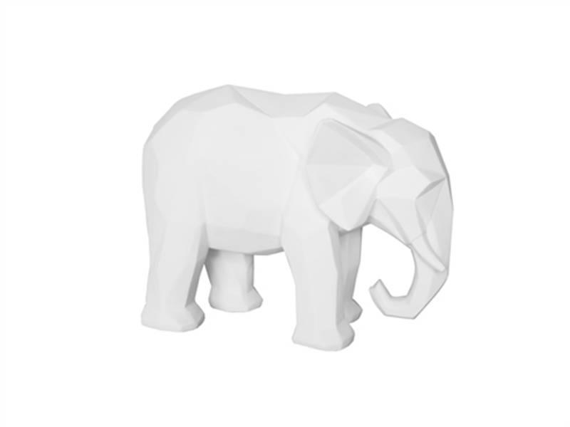 Dekorfigur Elefant hvit