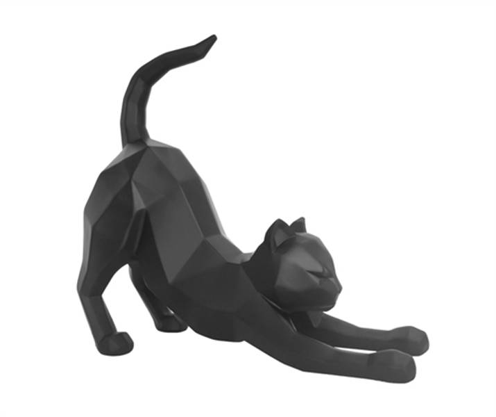 Dekorfigur Katt Origami Sort