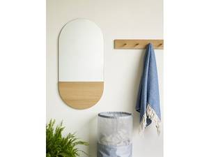 Bilde av Speil ovalt eik