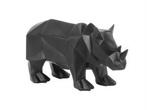 Bilde av Dekorfigur Nesehorn Origami Sort