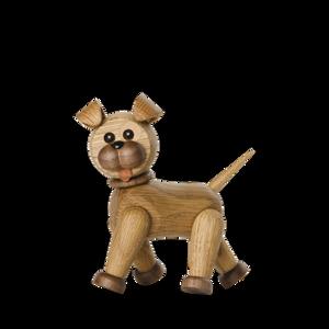 Bilde av Dekorfigur Happy hund Eik