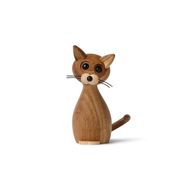 Dekorfigur Lucky Katt Eik