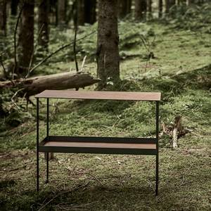Bilde av LindDNA Konsollbord 2 hyller Sort/Natur
