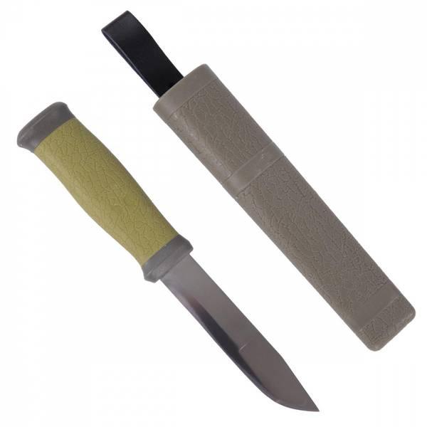 Kniv, gummiert skaft