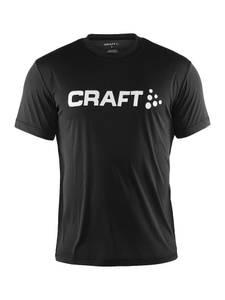 Bilde av Craft - Logo Tee, Trening, Sort, Herre