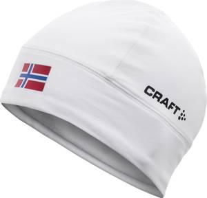 Bilde av CRAFT - Treningslue med Norsk flagg, Hvit