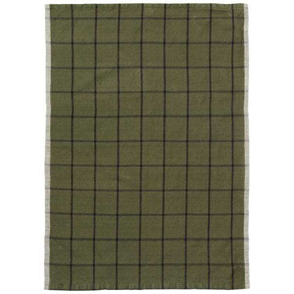 Bilde av Ferm Living Hale Tea Towel - Green/Black
