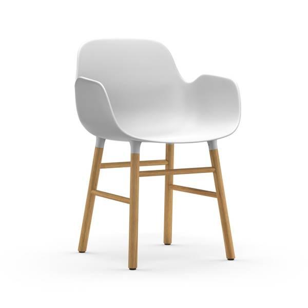 Bilde av Form Armchair Oak - White