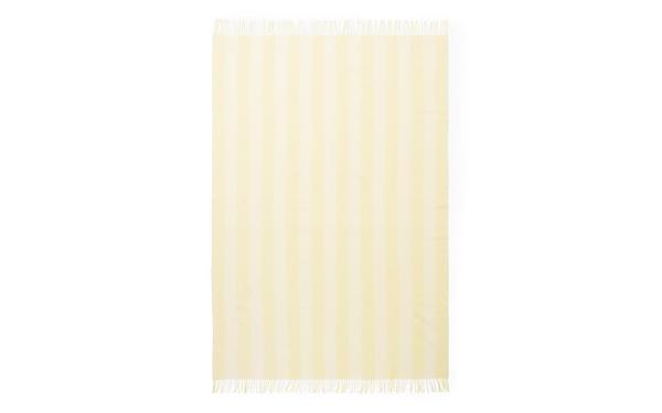 Bilde av Pledd - Candy Stripe Pale Yellow
