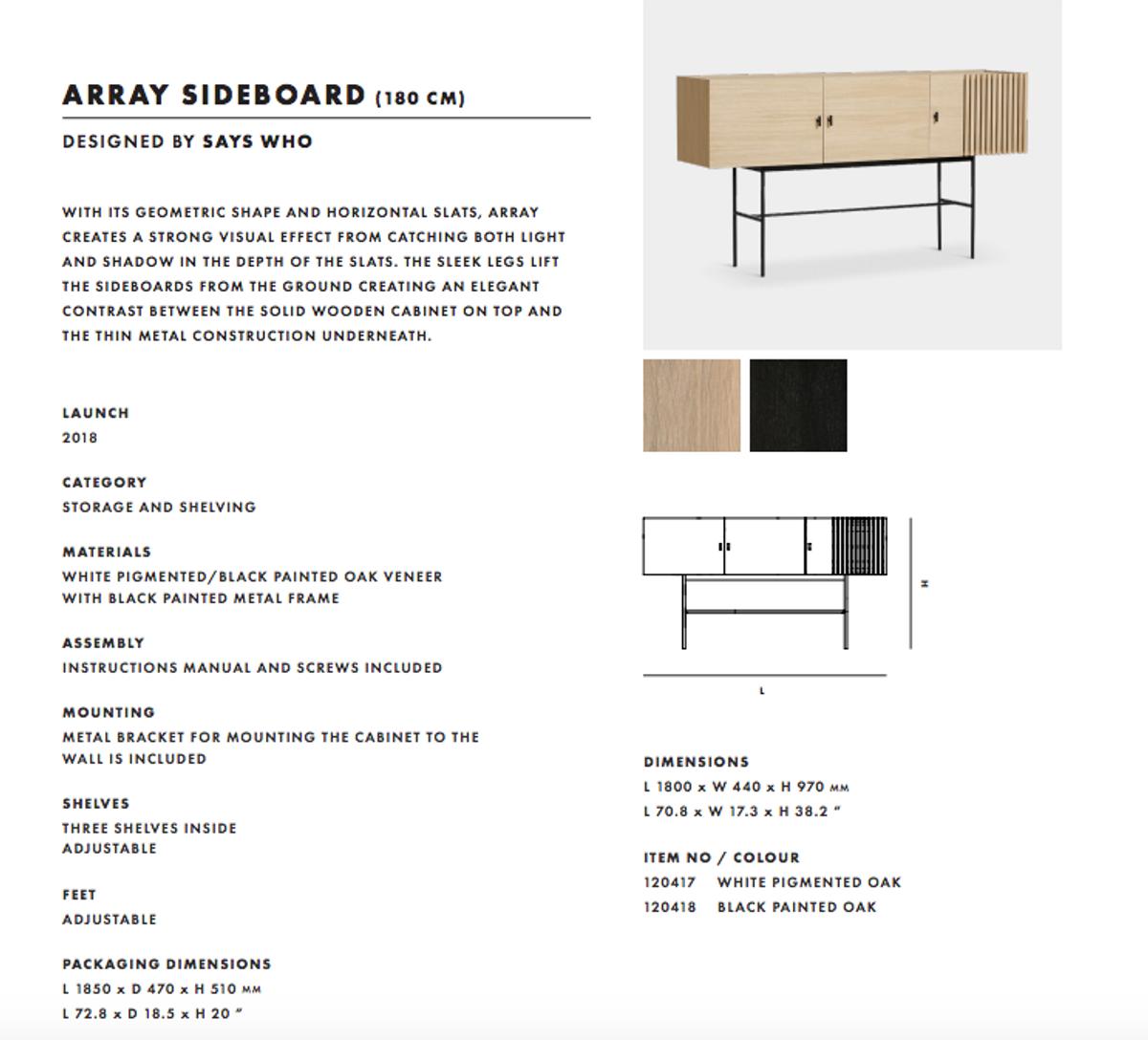 Woud Array sideboard (180 cm) - Eik