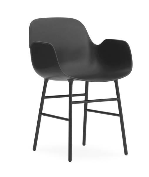 Bilde av Form Armchair Steel - Black