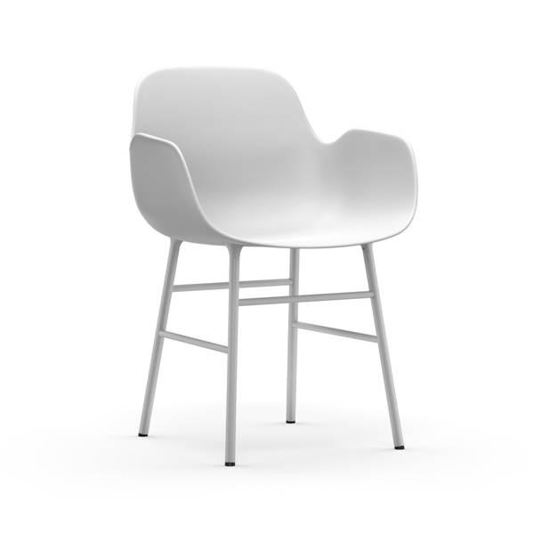 Bilde av Form Armchair Steel - White