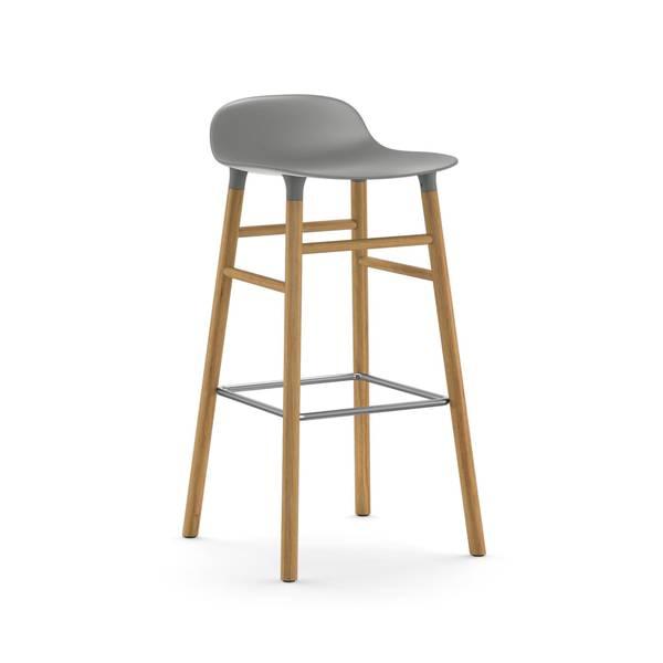 Bilde av Form Barstool 65 cm Oak - Grey