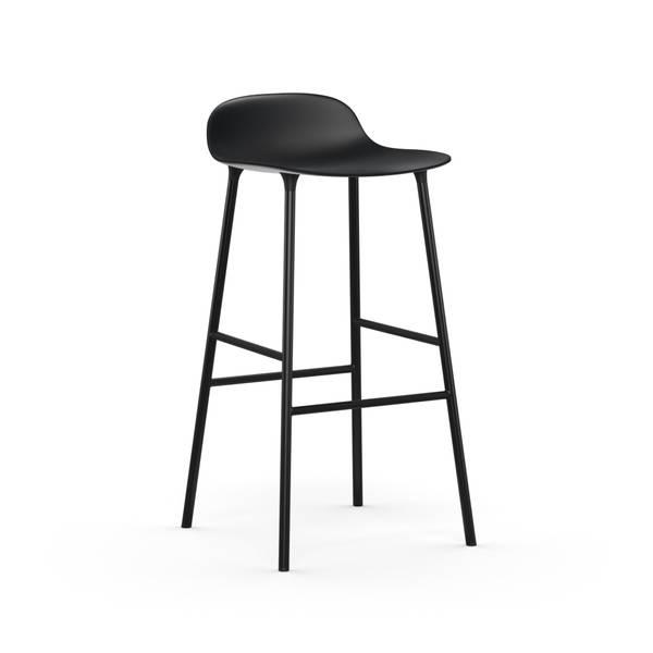 Bilde av Form Barstool 65 cm Steel - Black