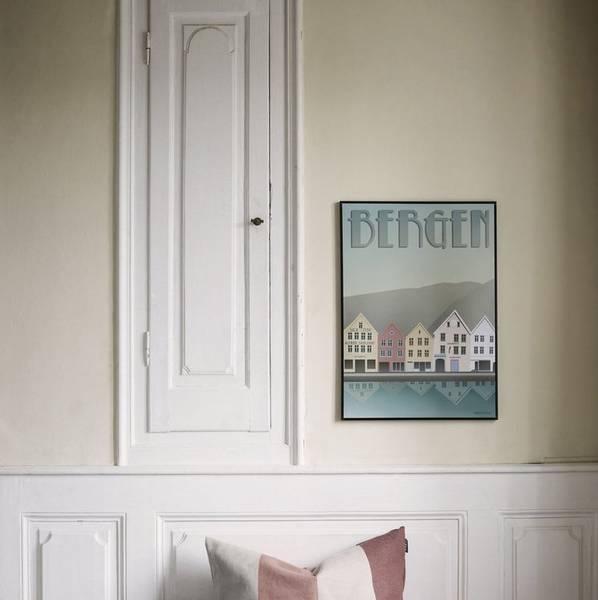 Bilde av Poster Bryggen i Bergen