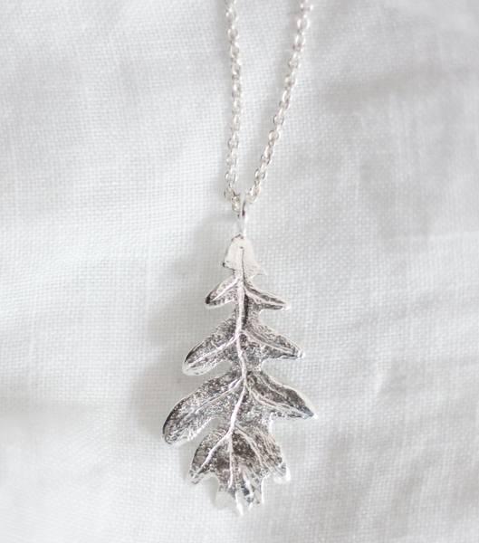 Bilde av Eik, Halssmykke sølv 50 cm