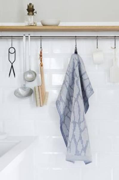 Bilde av Kjøkkenhåndkle Pine Bark - Blå