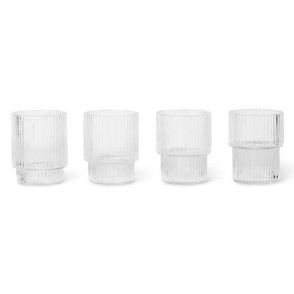 Bilde av Ripple Small Glasses - Set of 4 - Clear
