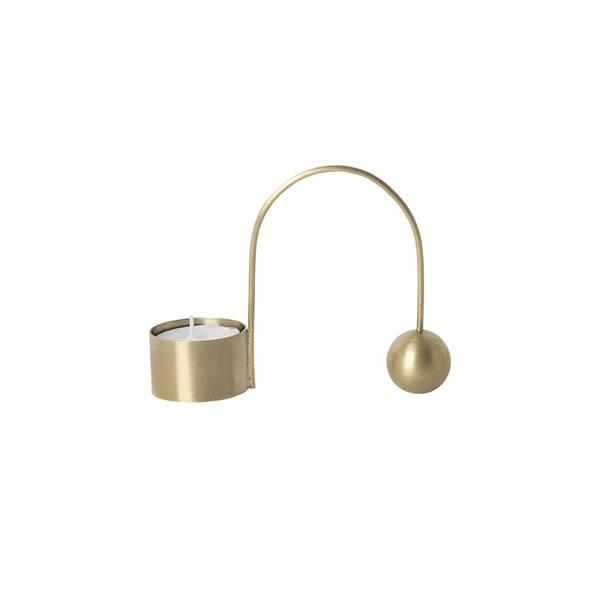 Bilde av Ferm Living Balance Telysholder - Brass