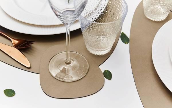 Bilde av LindDna Glass Mat Curve - Ensidig