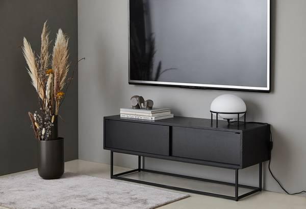 Bilde av Virka skjenk Lav - Svart - Woud Design