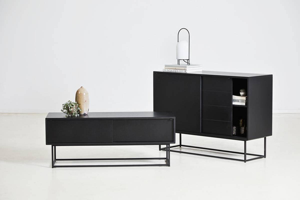 Virka skjenk Lav - Svart - Woud Design