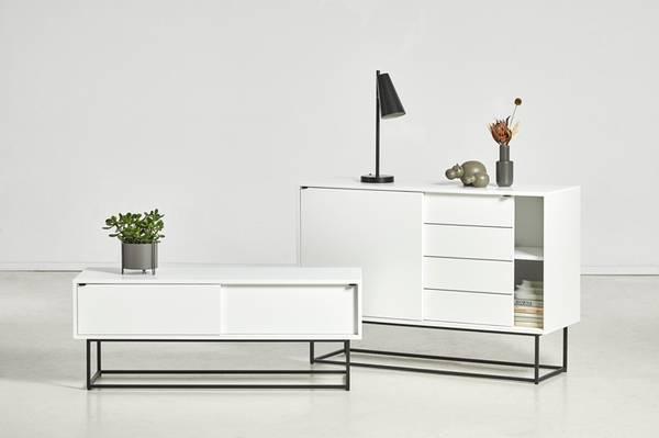 Bilde av Virka skjenk Lav - Hvit - Woud Design