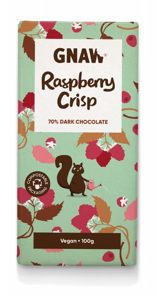 Gnaw 70 % dark raspberry crisp