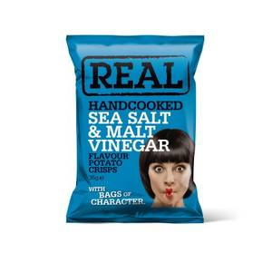 Bilde av Real Crisps Salt & Vinegar 35 g
