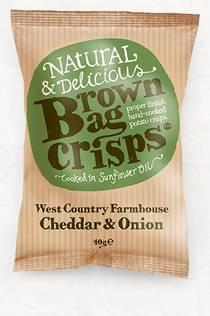 CHEDDAR & ONION BROWN BAG CRISPS