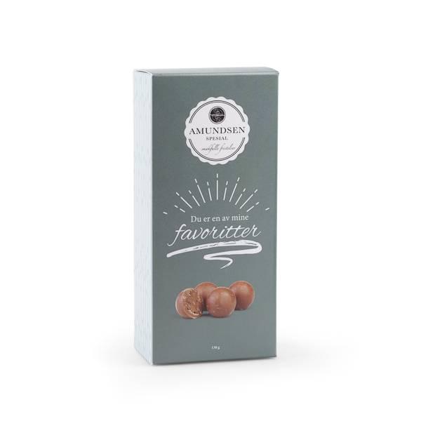 Sjokoladekuler i gaveeske