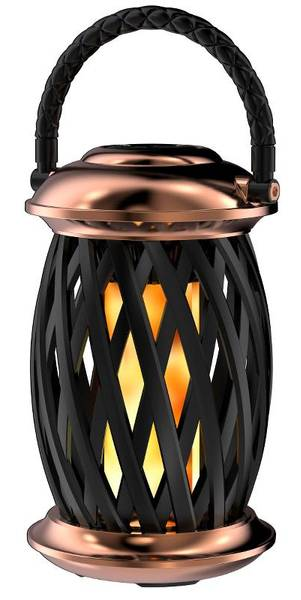Flammelampe Homeline Ignis, kobber/sort,120 LEDs