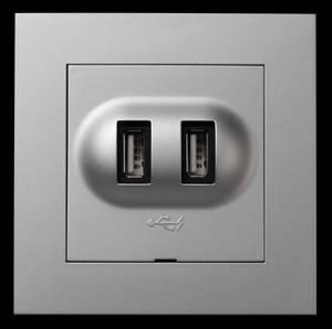 Bilde av Elko - Plus USB lader ALU -