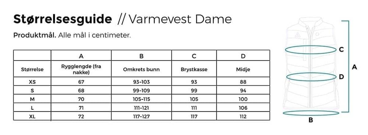 Heat Experience Varmevest m/6000mAh batteri – dame – Svart