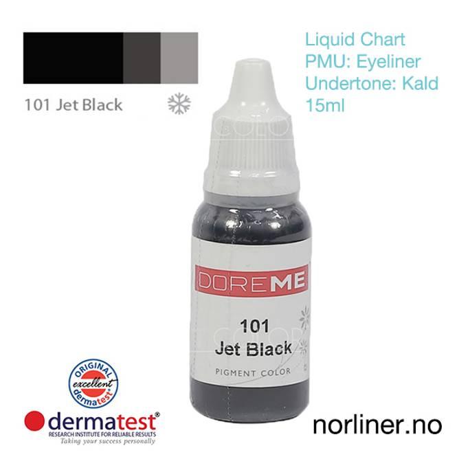 Bilde av MT-DOREME #101 Jet Black til PMU Eyeliner [Liquid