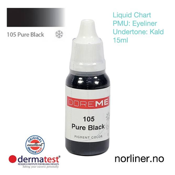 Bilde av MT-DOREME #105 Pure Black til PMU Eyeliner
