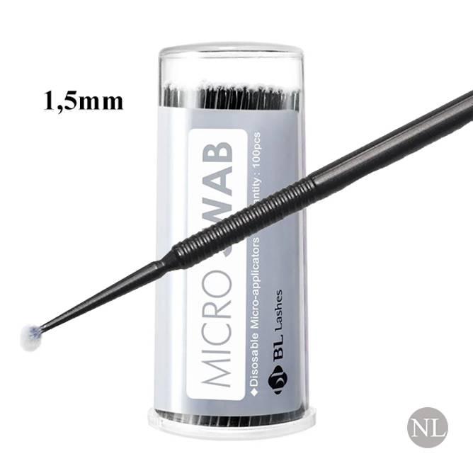 Bilde av BL-Micro Brush 1,5mm (sort) Boks m/100 stk