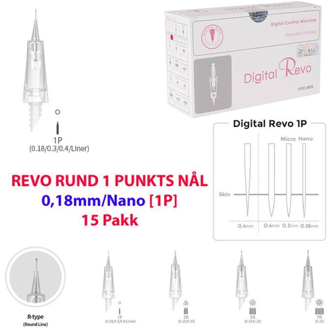 Bilde av DO-DIGITAL REVO RUND 1 PUNKTS NÅL 0,18mm/Nano