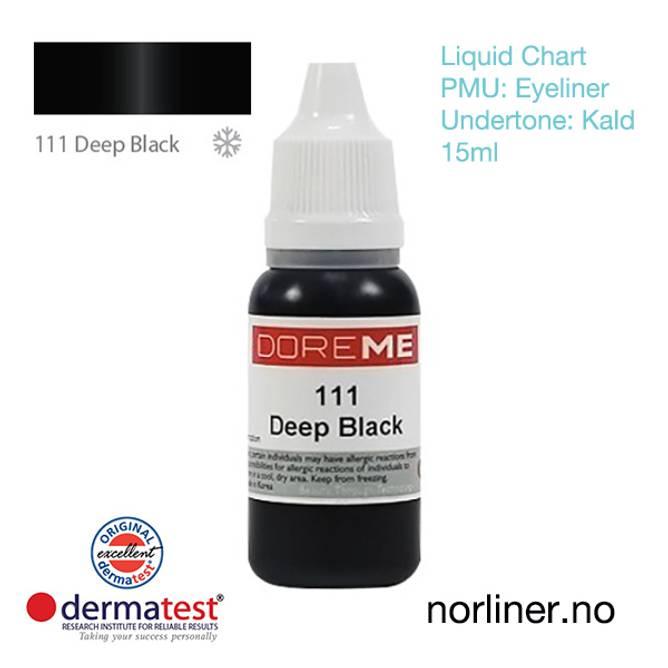Bilde av MT-DOREME #111 Deep Black til PMU Eyeliner