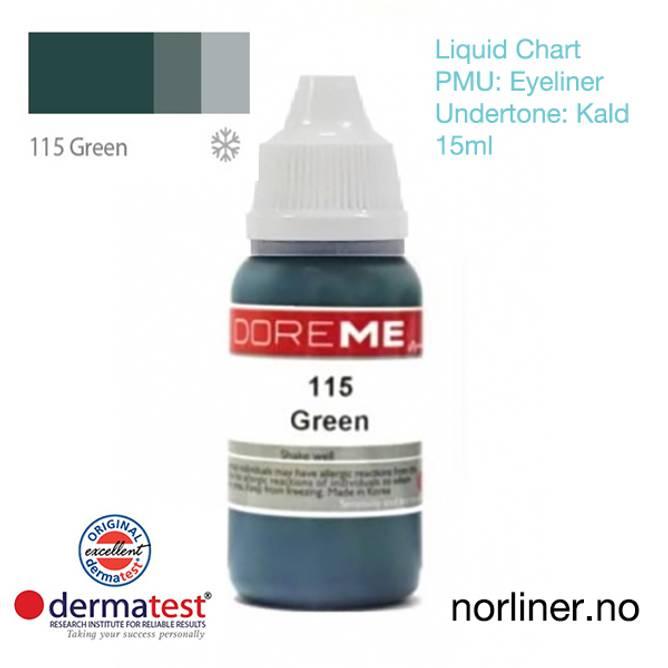 Bilde av MT-DOREME #115 Green til PMU Eyeliner [Liquid