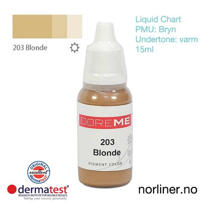 Bilde av MT-DOREME #203 Blonde til PMU Bryn [Liquid Chart]