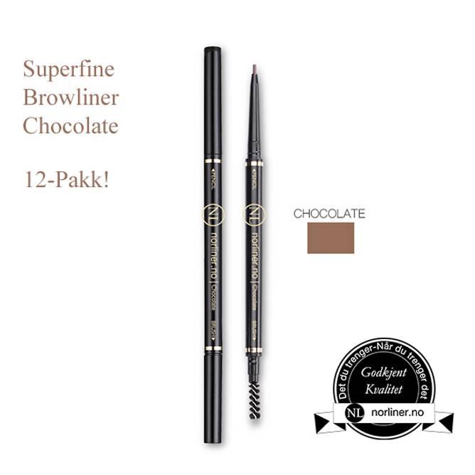Bilde av NL-Superfine Browliner Chocolate 12-Pakk!