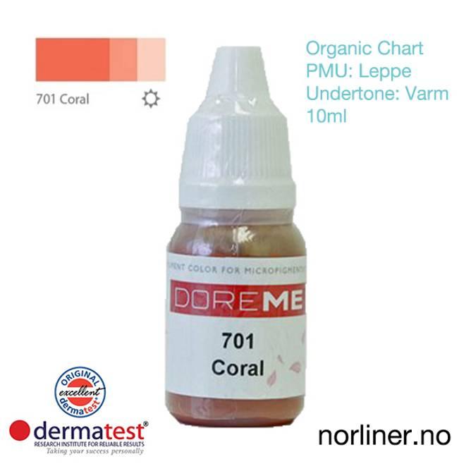 Bilde av MT-DOREME #701 Coral PMU Leppe [Organic Chart]