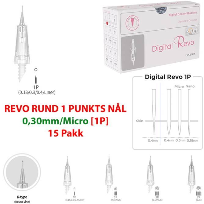 Bilde av DO-DIGITAL REVO RUND 1 PUNKTS NÅL 0,3mm/Micro