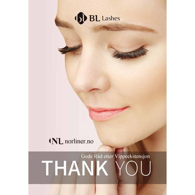 Bilde av NL-Thank You-Card [Råd etter Vippeekstensjon]