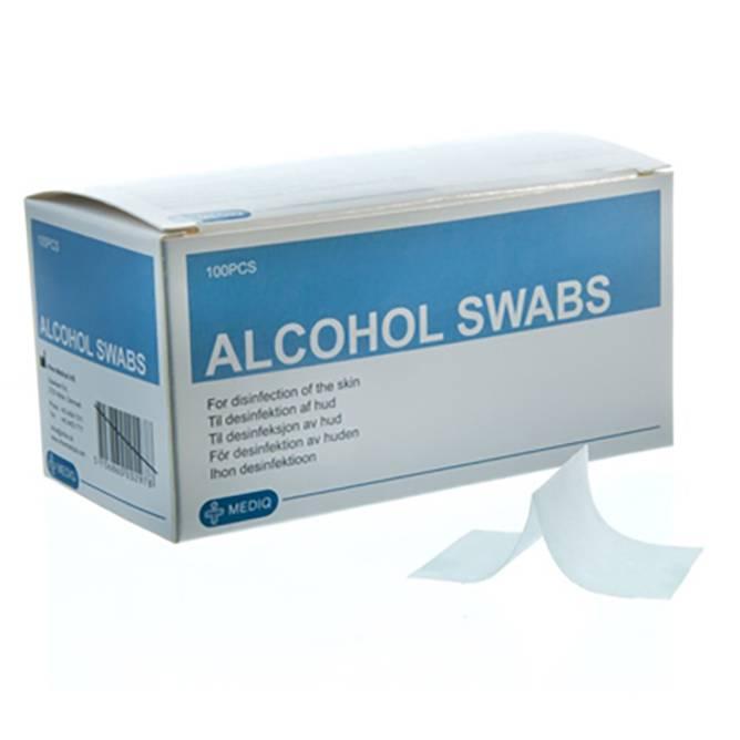 Bilde av MQ-PREPS PAD / INJEKSJONSTØRK Alkohol Swabs