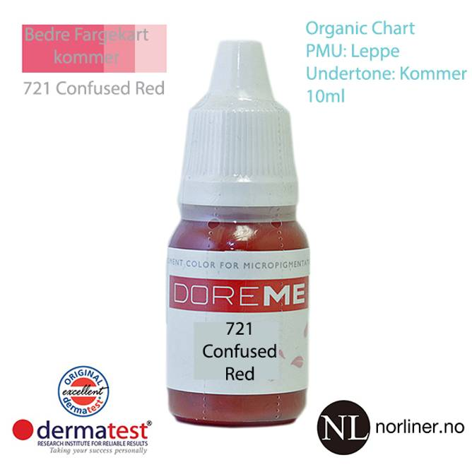 Bilde av MT-DOREME #721 Confused Red PMU Leppe [Organic