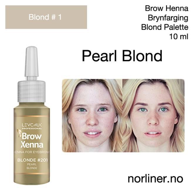 Bilde av LB-BH BROW XENNA Blond #1(201) Pearl Blonde 10ml