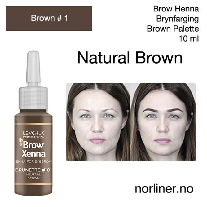Bilde av LB-BH BROW XENNA Brown #1(101) Neutral Brown 10ml